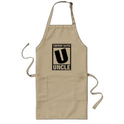 Long Apron with Content Rated Uncle design
