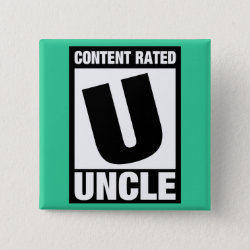 Square Button with Content Rated Uncle design