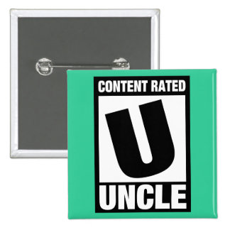 Content Rated Uncle Pinback Button