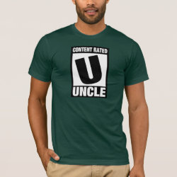 Men's Basic American Apparel T-Shirt with Content Rated Uncle design