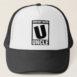 Trucker Hat with Content Rated Uncle design