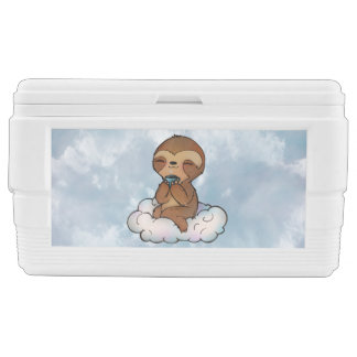 Content Sloth on a Cloud Chest Cooler