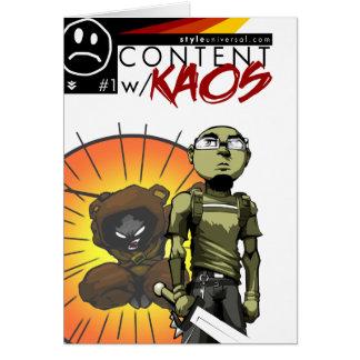 Content with KAOS comic card