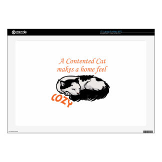 Contented Cat Decals For Laptops