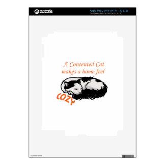 Contented Cat iPad 3 Decals