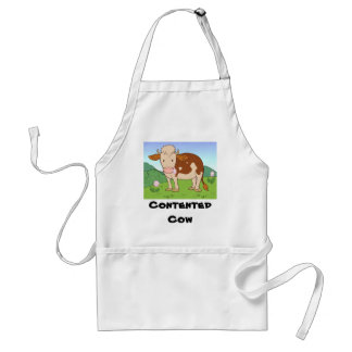 Contented cow2 adult apron
