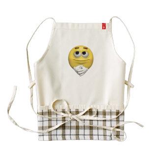 Contentment emoticon zazzle HEART apron