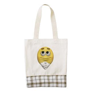 Contentment  emoticon zazzle HEART tote bag