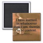Contentment Philippians 4-11 Condensed Magnet