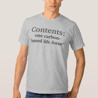 Contents, Disclaimer T Shirt