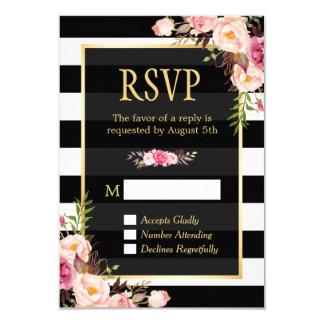 """Contestación de embalaje floral de RSVP de las Invitación 3.5"""" X 5"""""""