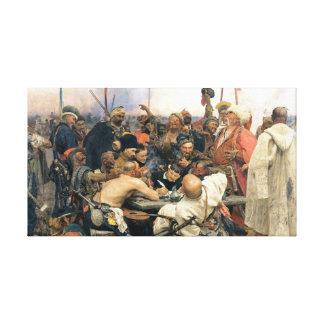Contestación de los Cossacks de Zaporozhian Impresión En Lienzo Estirada