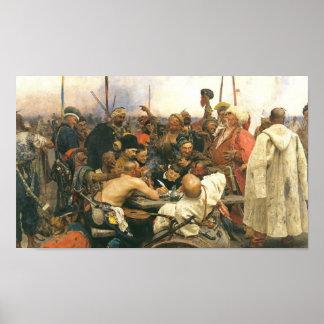 Contestación de los Cossacks de Zaporozhian… - mod Póster