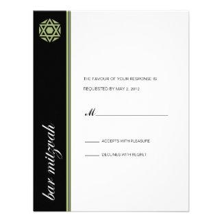 Contestación de Mitzvah de la barra de Simcha Invitaciones Personalizada