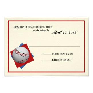 Contestación de Mitzvah de la barra del béisbol de Anuncio Personalizado