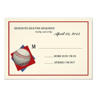 """Contestación de Mitzvah de la barra del béisbol en Invitación 3.5"""" X 5"""""""