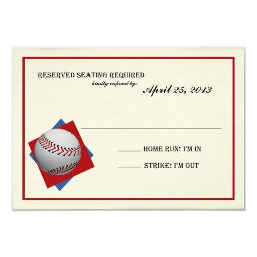 """Contestación de Mitzvah de la barra del béisbol Invitación 3.5"""" X 5"""""""
