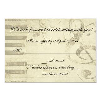 Contestación musical de RSVP de la invitación del Invitación 8,9 X 12,7 Cm