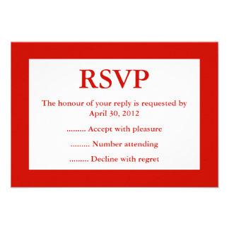 Contestación roja y blanca del acontecimiento RSV