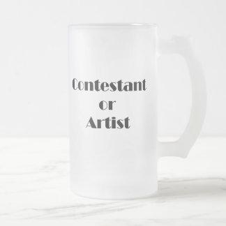 Contestant Or Artist 16 Oz Frosted Glass Beer Mug