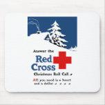 Conteste a la lista del navidad de la Cruz Roja Alfombrilla De Ratones