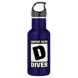 Contet Rated D: Diver Stainless Steel Water Bottle