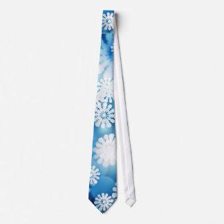 Contexto azul de Bokeh con nieve Corbatas Personalizadas