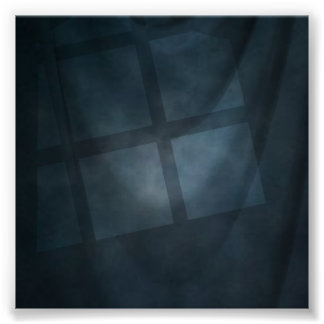 Contexto azul de la foto de la muselina de la vent poster