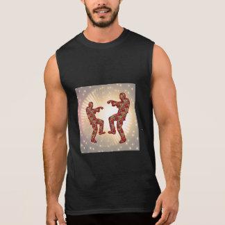 Contexto chispeante del oro de la danza festiva br camiseta