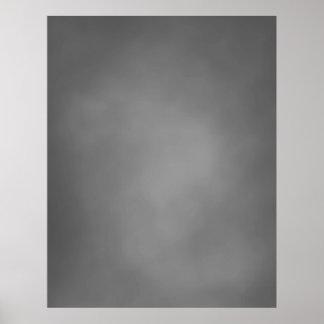 CONTEXTO COMPACTO de la FOTO - nube gris Posters