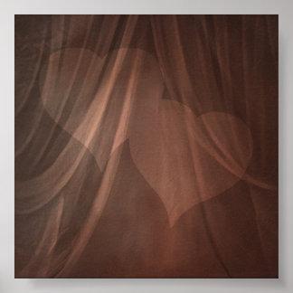 Contexto de la foto de la muselina del corazón poster