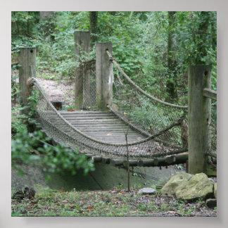 Contexto de la foto del puente de cuerda poster
