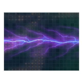 Contexto púrpura de la electricidad del relámpago tarjetones