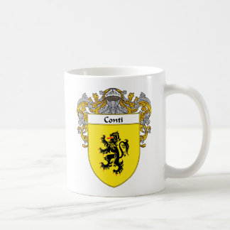 Conti Coat of Arms (Mantled) Coffee Mugs