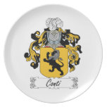 Conti Family Crest Party Plates