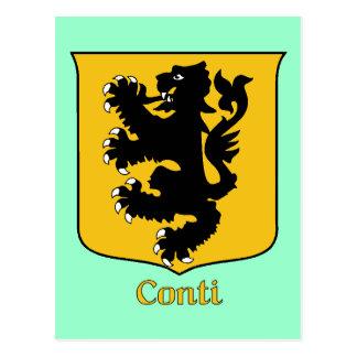 Conti Family Shield Postcard