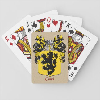 Conti Heraldic Shield with Mantle Playing Cards