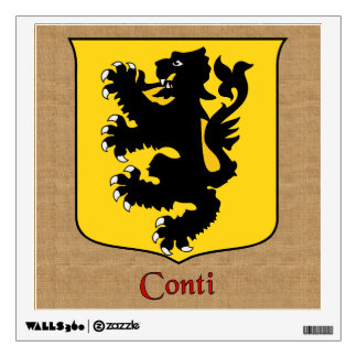 Conti Historical Shield on Burlap Style Wall Decal
