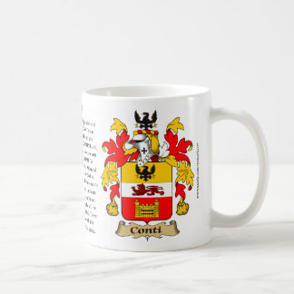 Conti, the Origin, the Meaning and the Crest Coffee Mug