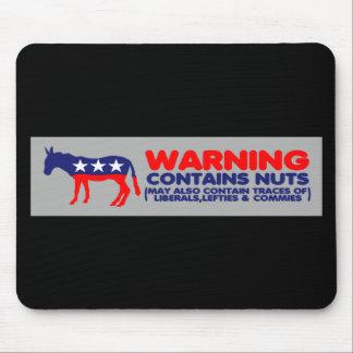 Contiene a la pegatina para el parachoques liberal alfombrilla de ratones