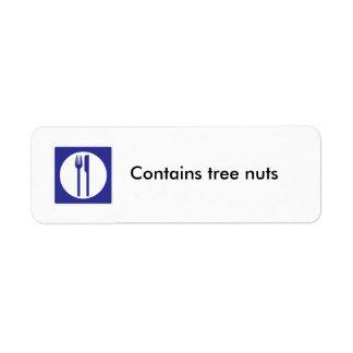 Contiene la etiqueta de las nueces del árbol etiqueta de remitente