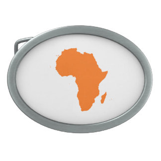 Continent of Africa Oval Belt Buckle