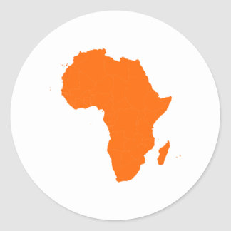 Continent of Africa Classic Round Sticker
