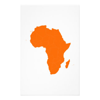 Continent of Africa Stationery Design