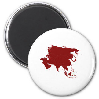 Continent of Asia Magnet
