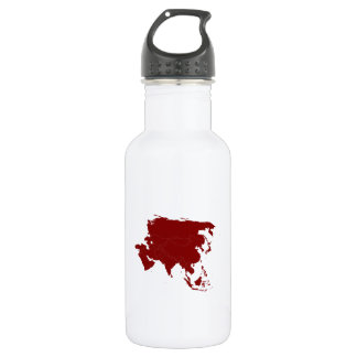 Continent of Asia 18oz Water Bottle