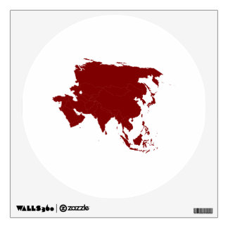 Continent of Asia Wall Sticker