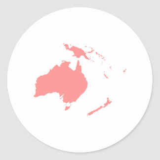 Continent of Australia Classic Round Sticker