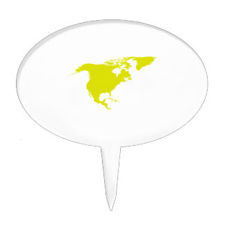 Continent of North America Cake Topper