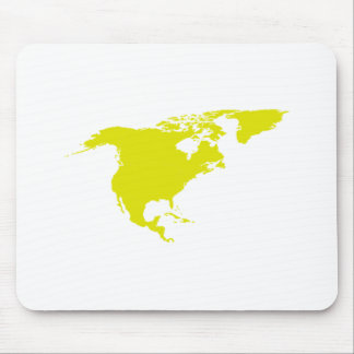 Continent of North America Mouse Pad